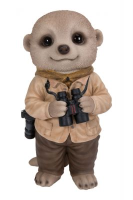 Train Spotter Baby Meerkat Ornament Gift - Indoor or Outdoor - Fun