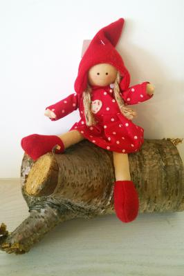 Christmas Decoration Red Doll Girl