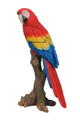 Red Macaw Parrot - Lifelike Garden Ornament - Indoor or Outdoor - Real Life