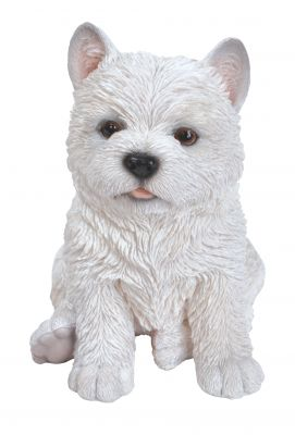 West Highland Terrier Puppy Dog - Lifelike Ornament Gift - Indoor or Outdoor - Pet Pals