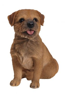Border Terrier Dog - Lifelike Garden Ornament - Indoor or Outdoor - Real Life