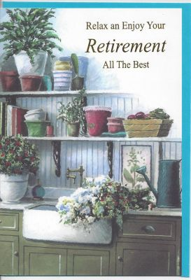 Retirement Card - Male - Gardening Flowers