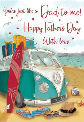 Father's Day Card - Like a Dad to Me - Campervan - Regal