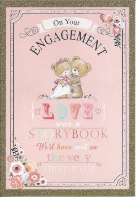 Engagement Card - Gold