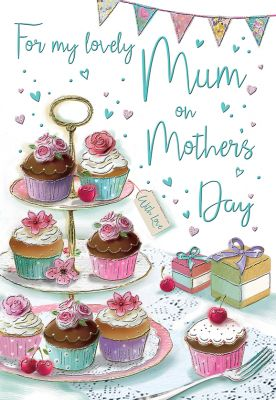Mother's Day Card - Mum - Cupcakes - Regal