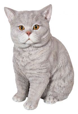 Cat Short Haired Lilac Lifelike Garden Ornament - Indoor or Outdoor - Real Life