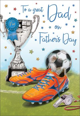 Father's Day Card - Dad - Football - Regal