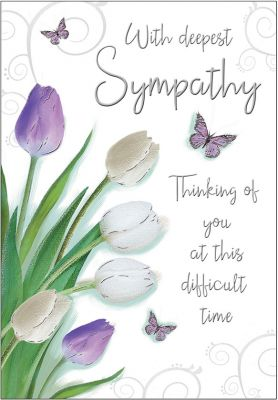 Sympathy Card - Thinking of You - Tulips - Regal