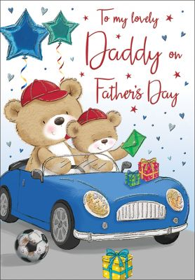 Father's Day Card - Daddy - Blue Car - Regal