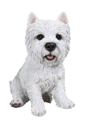 West Highland Terrier Dog - Lifelike Garden Ornament - Indoor or Outdoor - Real Life