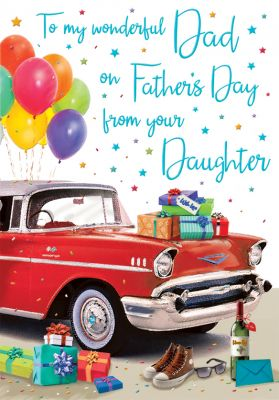 Father's Day Card - Dad From your Daughter - Car - Regal