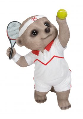Tennis Player Baby Meerkat Ornament Gift - Indoor or Outdoor - Fun