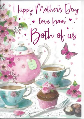 Mother's Day Card - Mum From Both of Us - Afternoon Tea - Regal