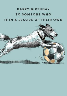 Birthday Card - Football Dog League of your own - King Street Ling Design