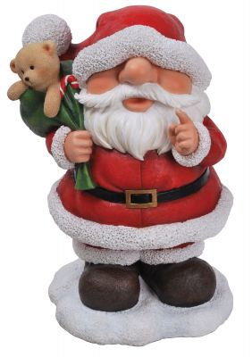 Playful Santa Large Christmas Ornament - Indoor or Outdoor