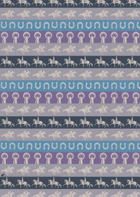 Horse Lovers Gift Wrap Sheet & Tag
