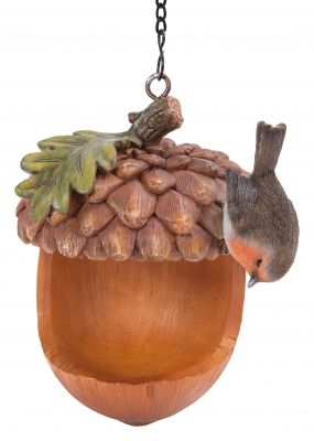 Robin Acorn Bird Feeder - Hanging - Garden Friends