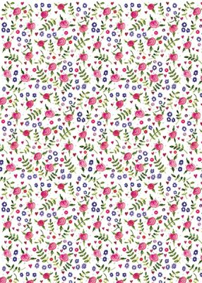 Flowers Gift Wrapping Paper Sheets & Tags - Alex Clark