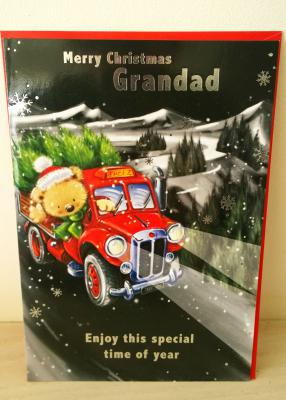Grandad Red Truck - Christmas Card