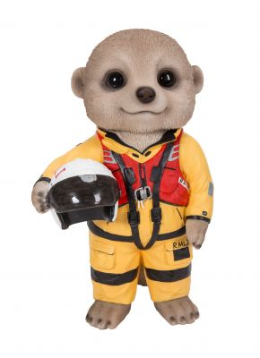 RMLI Lifeboat Rescue Baby Meerkat Ornament Gift - Indoor or Outdoor - Fun