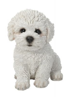 Bichon Frise Puppy Dog - Lifelike Ornament Gift - Indoor or Outdoor - Pet Pals