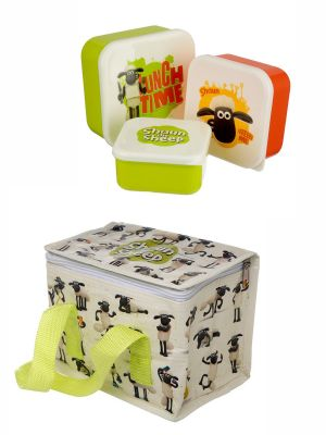 Shaun the Sheep Lunch Box Set - Cool Bag & Boxes