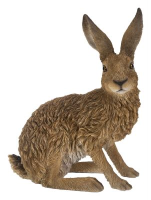 Sitting Hare - Lifelike Garden Ornament - Indoor or Outdoor - Real Life