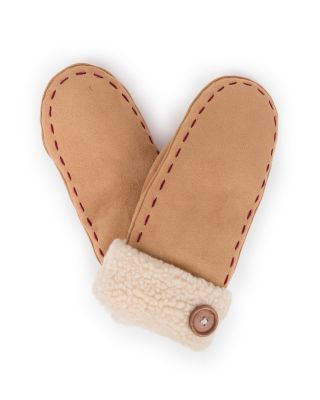 Powder UK Ladies Ellen Faux Suede Mitten Gloves Free Gift Bag