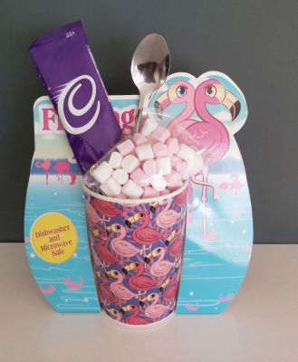 Cadbury's Hot Chocolate & Flamingo Mug Gift Set