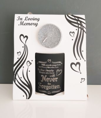 In Loving Memory - Never Be Forgotten Tealight & Holder Gift Set