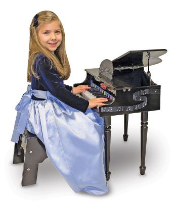 Melissa & Doug Learn To Play Classic Grand Piano & Seat
