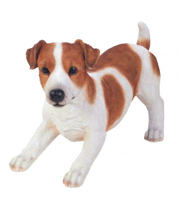 Jack Russell Dog - Brown Lifelike Garden Ornament - Indoor or Outdoor - Real Life