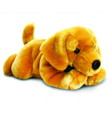 Yellow Labrador Dog Plush Soft Toy - Laying - Keel