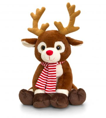 Reindeer in Scarf Large Soft Toy 58cm - Keel