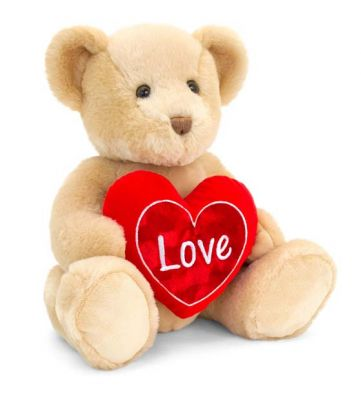 Chester Bear Brown Soft Toy With Red Heart 40cm - Love Keel