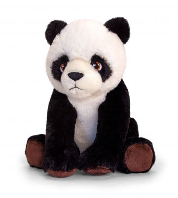 Panda Plush Soft Toy 25cm - Sitting - Keeleco - Keel