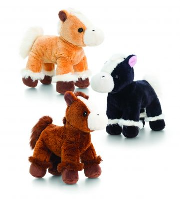 Horse Pony Plush Soft Toy - With Sound - Keel - 3 Colours