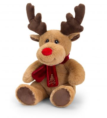 Christmas Reindeer Plush Soft Toy 20cm - Sitting - Keeleco - Keel