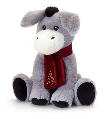 Christmas Donkey Plush Soft Toy 20cm - Keeleco - Keel