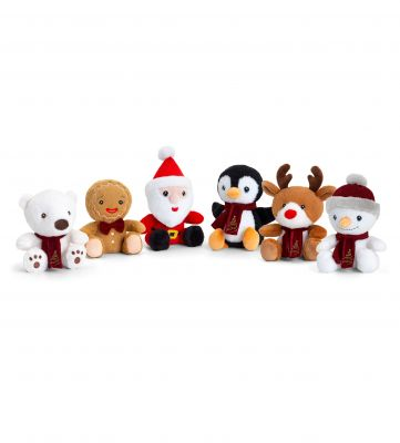 Christmas Beanies Plush Soft Toy 14cm - 6 Designs - Keeleco - Keel