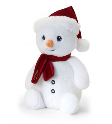 Christmas Snowman Large Plush Soft Toy 35cm - Keeleco - Keel