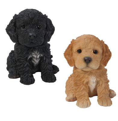 Cockapoo Puppy Dog - Lifelike Ornament Gift - Indoor or Outdoor - Pet Pals