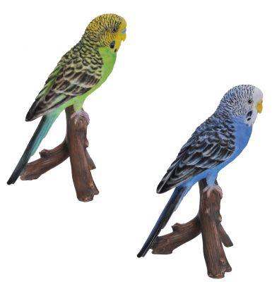 Budgerigar Budgie - Lifelike Ornament Gift - Indoor or Outdoor - Pet Pals