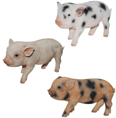 Micro Pig Piglet - Lifelike Ornament Gift - Indoor or Outdoor - Pet Pals