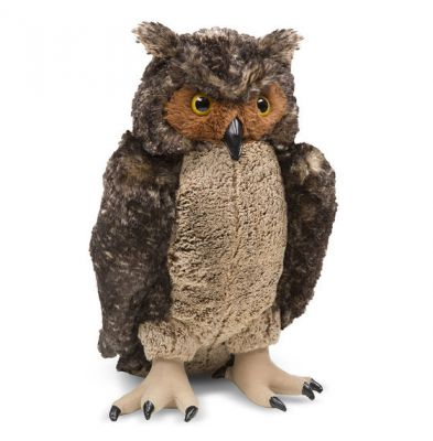 Lifelike Lifesize Owl Plush Soft Toy - Melissa & Doug