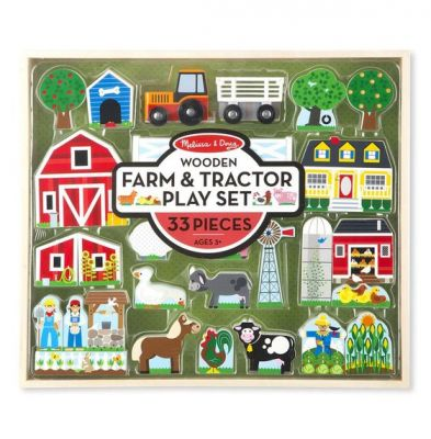 Melissa & Doug Farm & Tractor Wooden Play Set