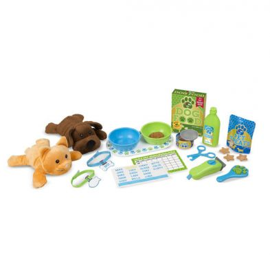 Melissa & Doug Pet Care Feeding & Grooming Play Set