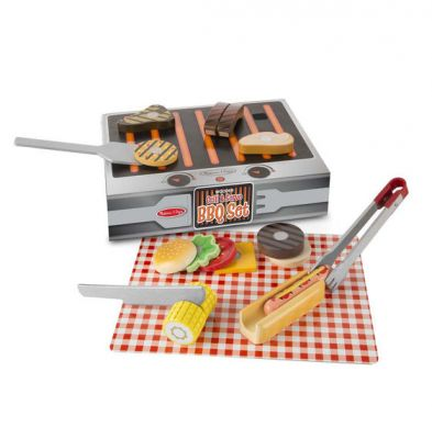 Melissa & Doug BBQ Grill & Serve Wooden Play Set