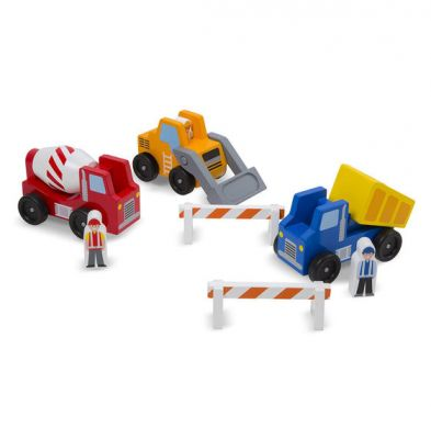 Melissa & Doug Construction Vehicles Wooden Set