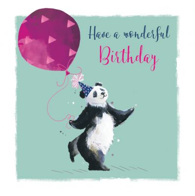 Birthday Card - Panda - The Wildlife Ling Design